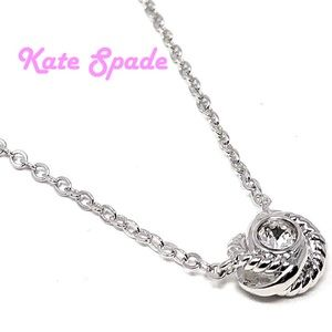 Kate Spade infinity & beyond knot mini pendant